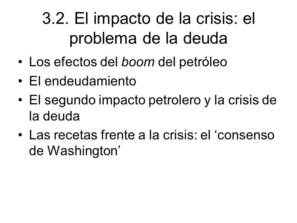 3.2. El impacto de la crisis: el problema de la deuda
