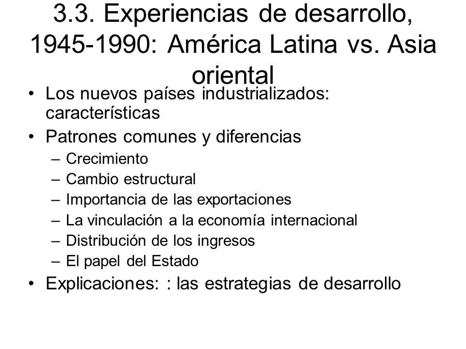 3. 3. Experiencias de desarrollo, 1945-1990: América Latina vs