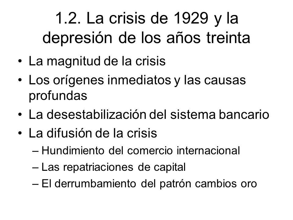 1.2. La crisis de 1929 y la depresión de los años treinta