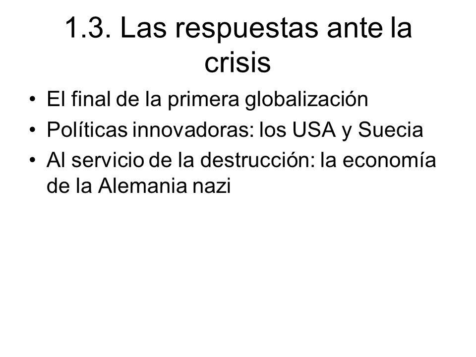 1.3. Las respuestas ante la crisis