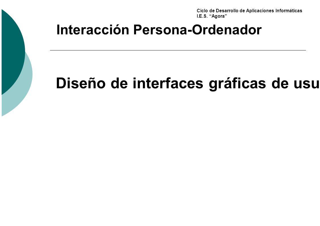 Diseño de interfaces gráficas de usuario