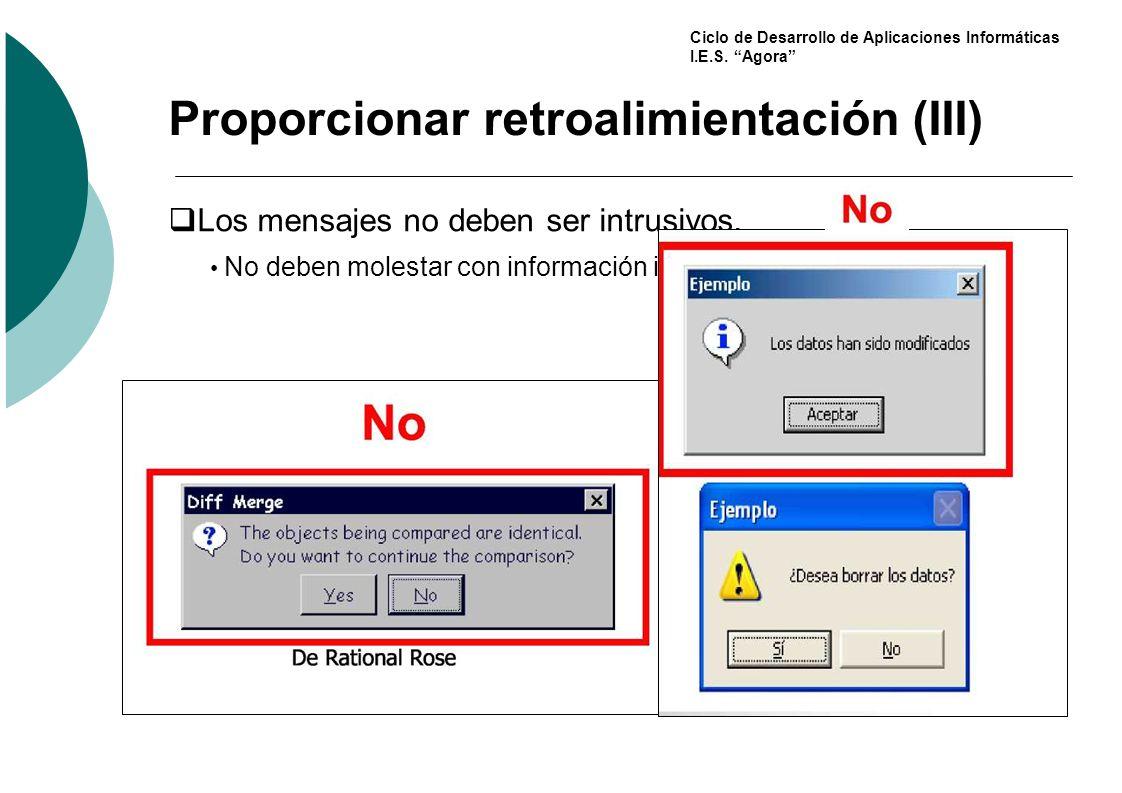 Proporcionar retroalimientación (III)