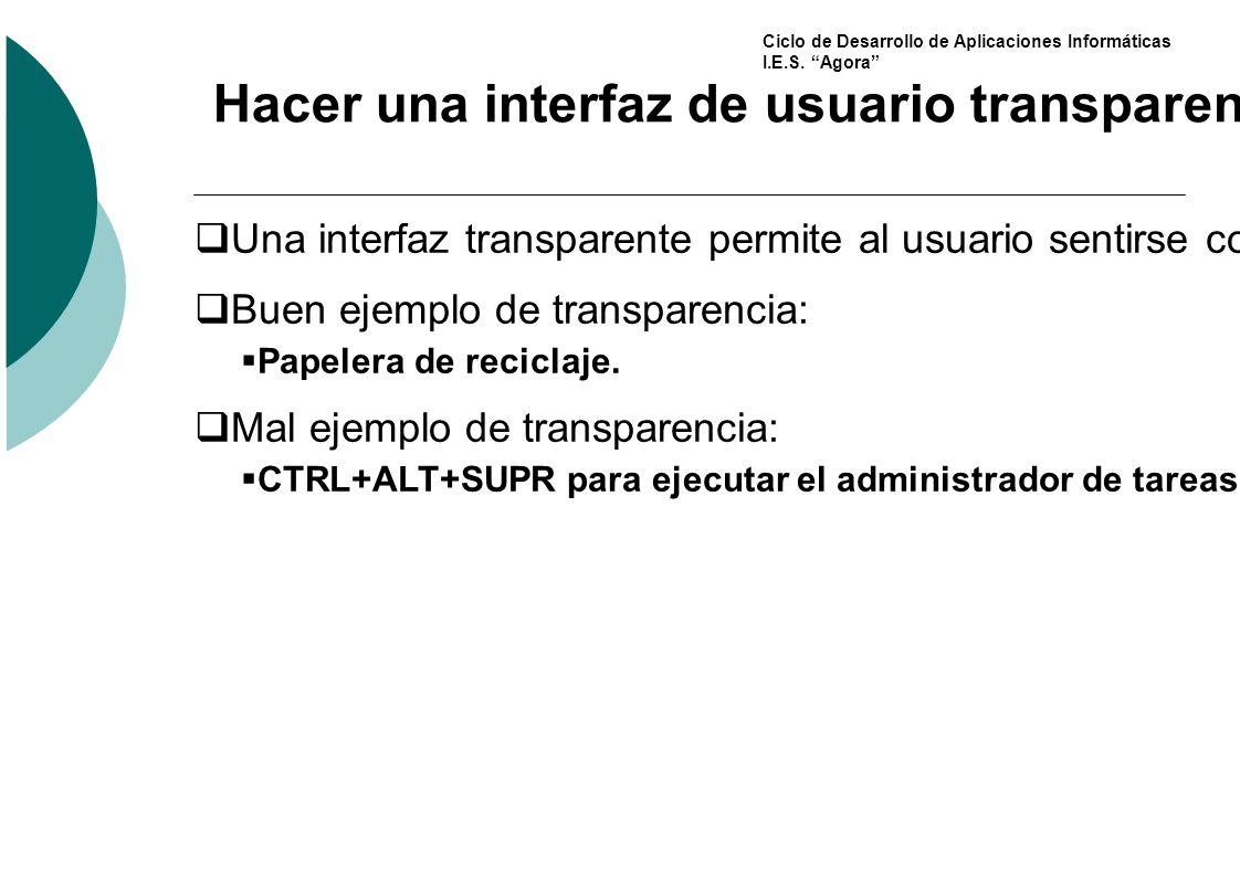 Hacer una interfaz de usuario transparente