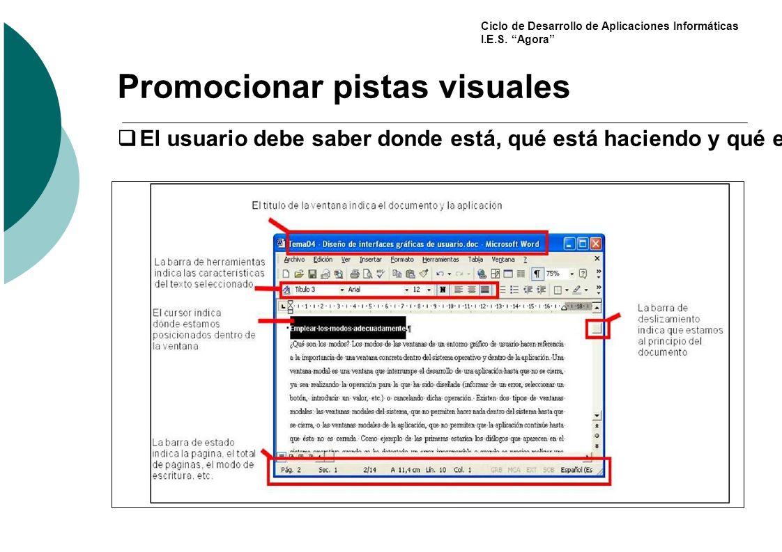 Promocionar pistas visuales