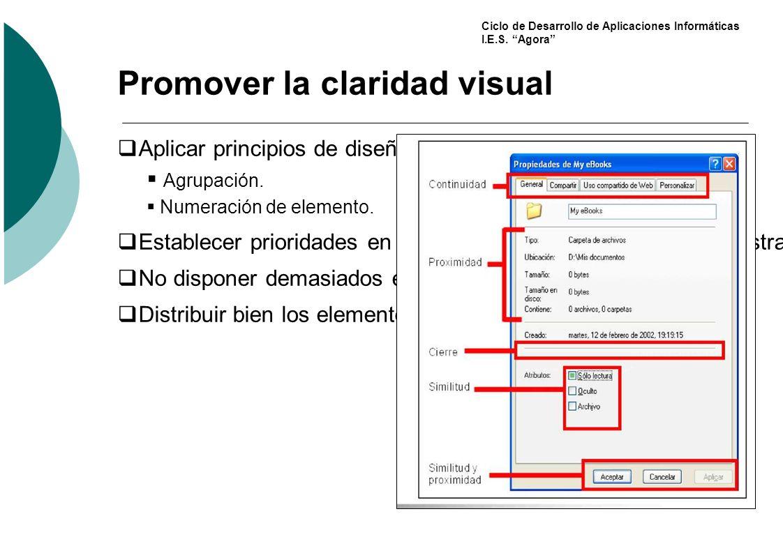 Promover la claridad visual