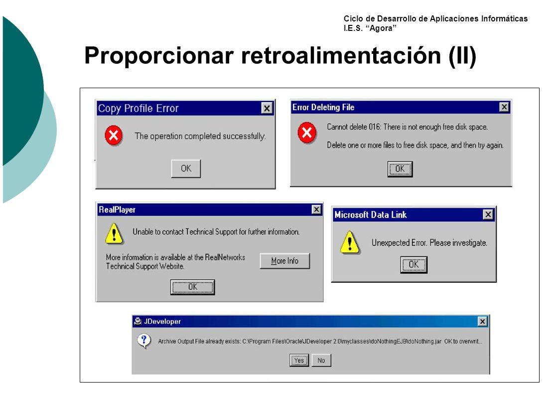 Proporcionar retroalimentación (II)