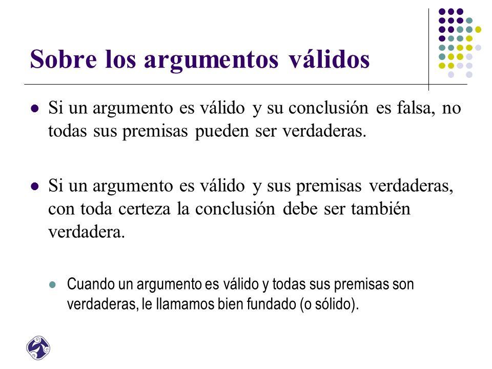 Sobre los argumentos válidos