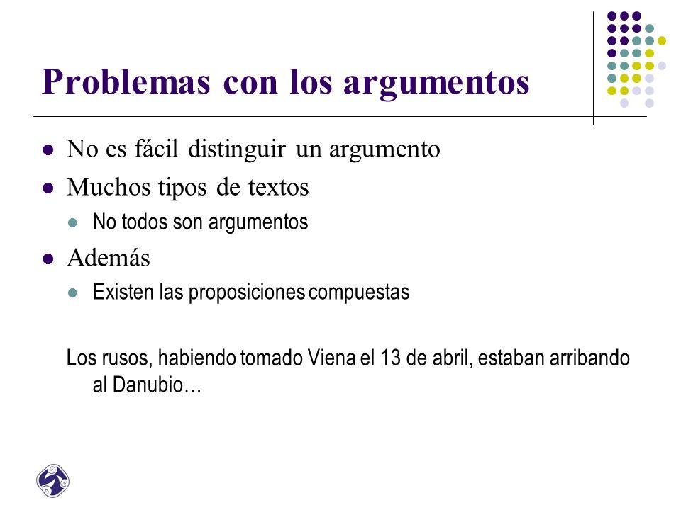 Problemas con los argumentos