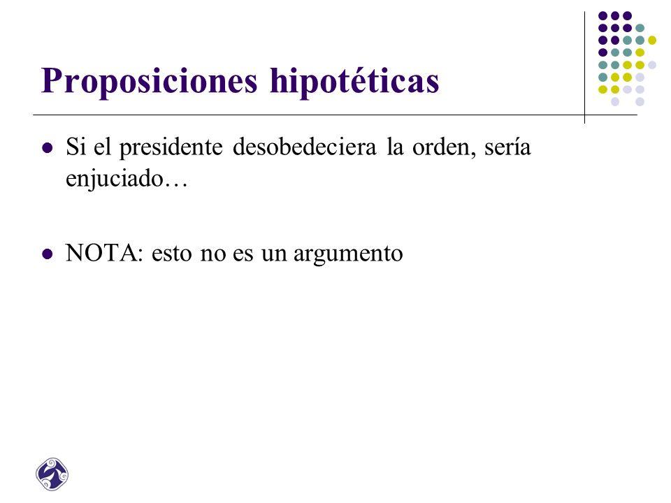 Proposiciones hipotéticas
