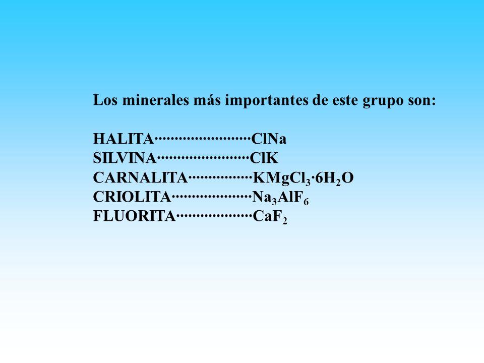 Los minerales más importantes de este grupo son: