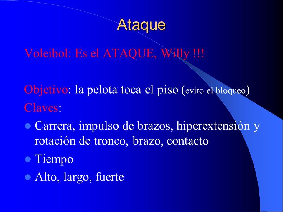 Ataque Voleibol: Es el ATAQUE, Willy !!!