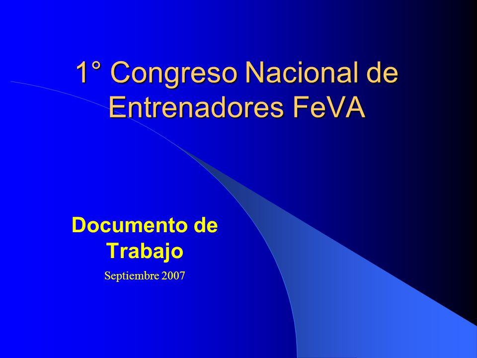 1° Congreso Nacional de Entrenadores FeVA
