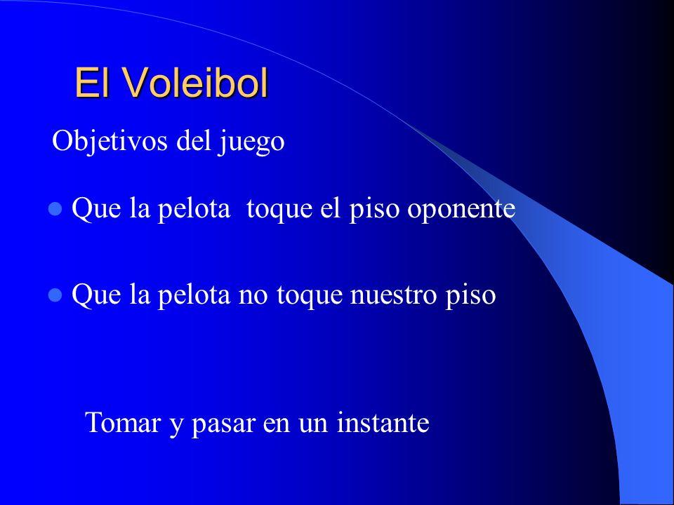 El Voleibol Objetivos del juego Que la pelota toque el piso oponente