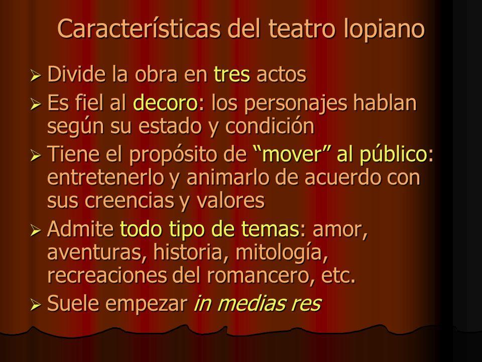 Características del teatro lopiano