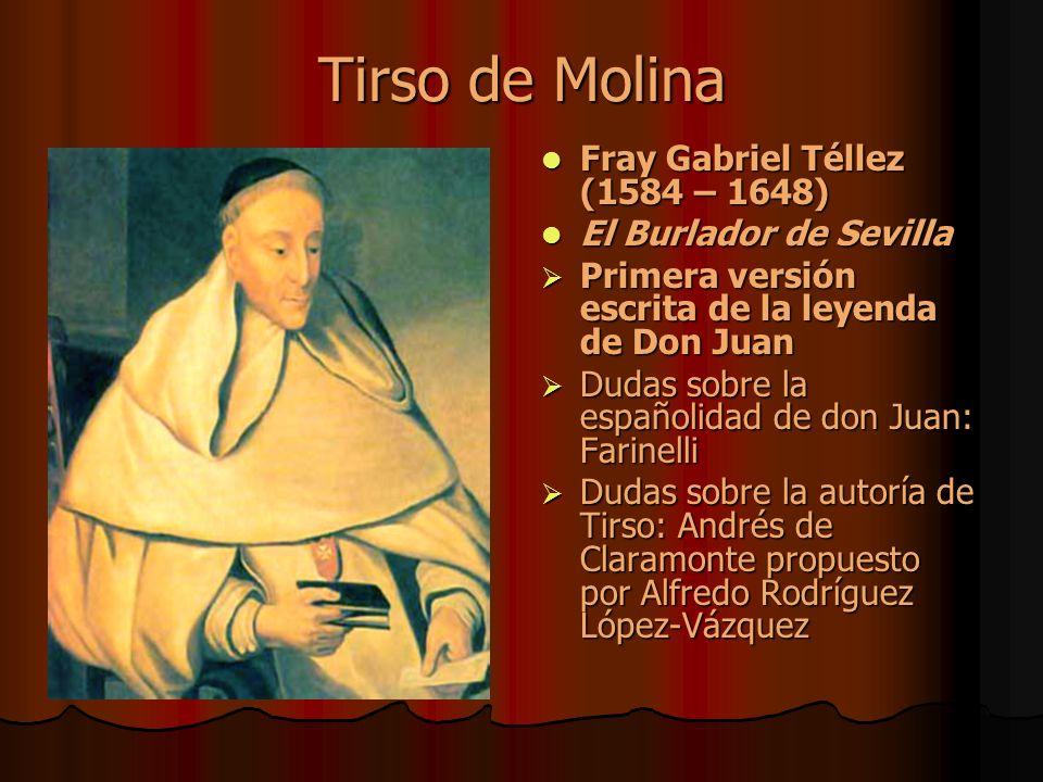 Tirso de Molina Fray Gabriel Téllez (1584 – 1648)