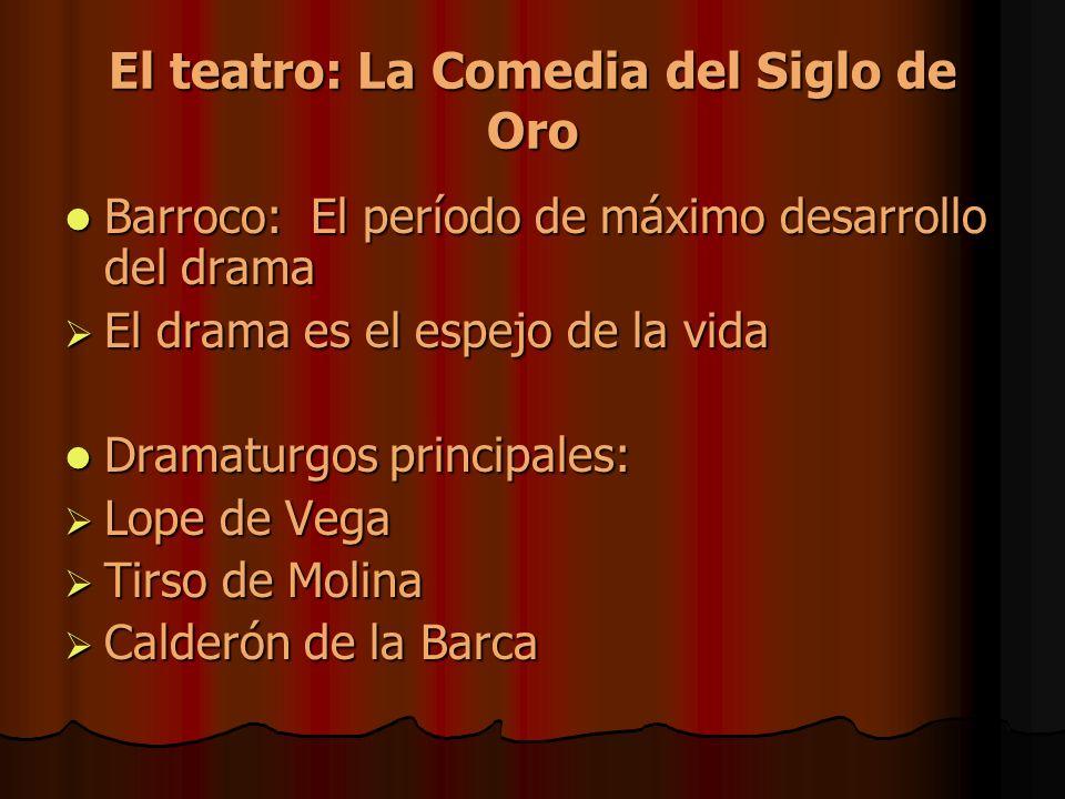 El teatro: La Comedia del Siglo de Oro