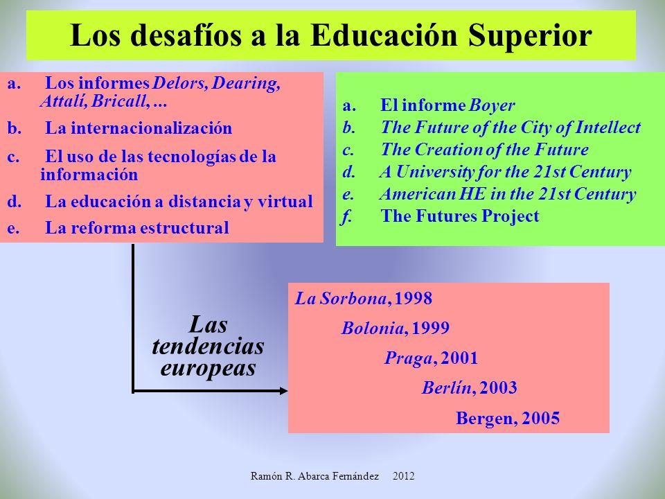 Los desafíos a la Educación Superior