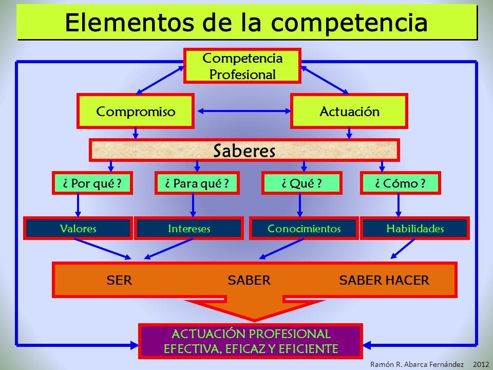Elementos de la competencia