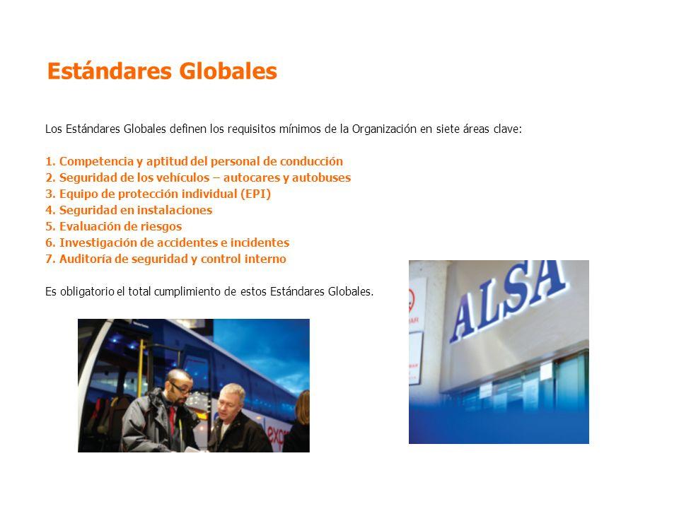Estándares Globales Los Estándares Globales definen los requisitos mínimos de la Organización en siete áreas clave: