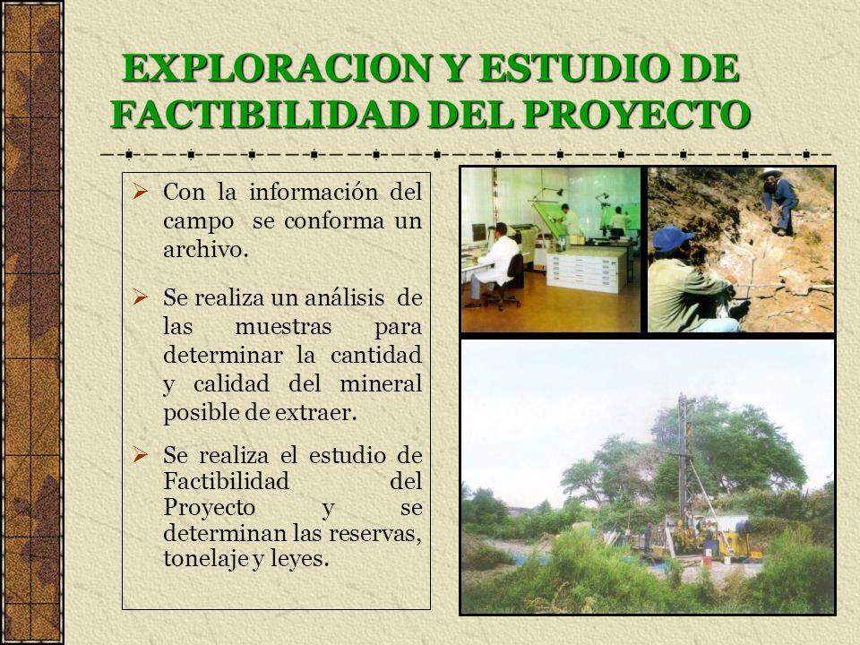 EXPLORACION Y ESTUDIO DE FACTIBILIDAD DEL PROYECTO