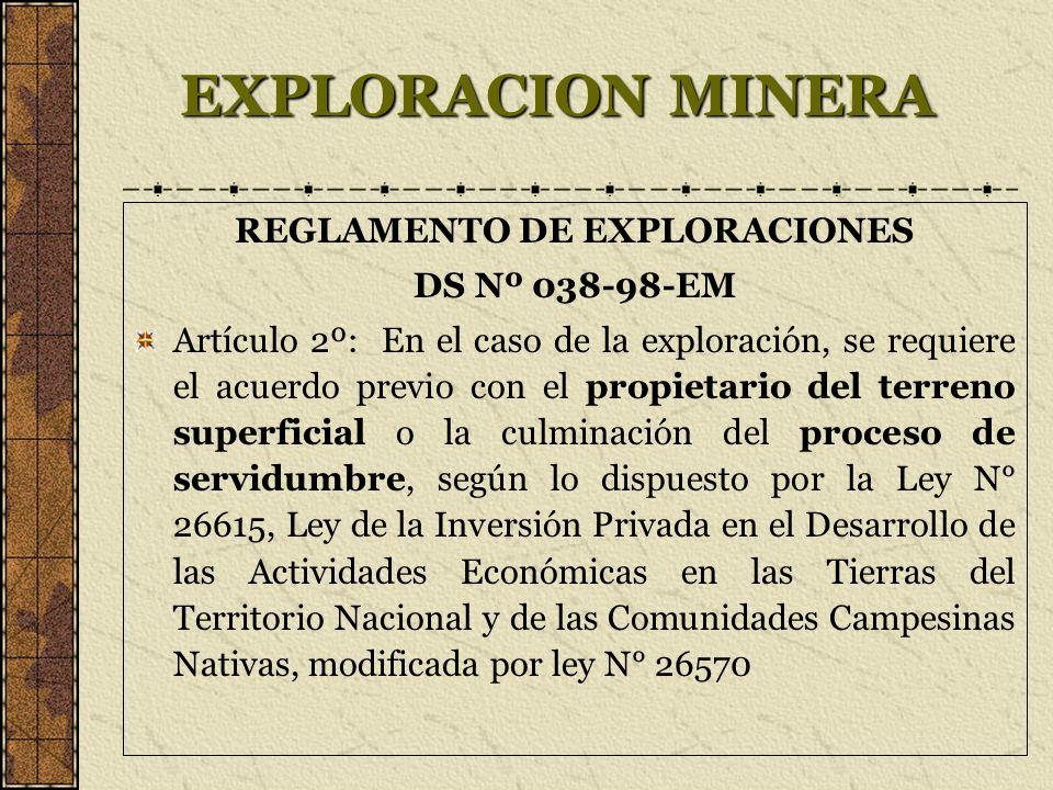 REGLAMENTO DE EXPLORACIONES