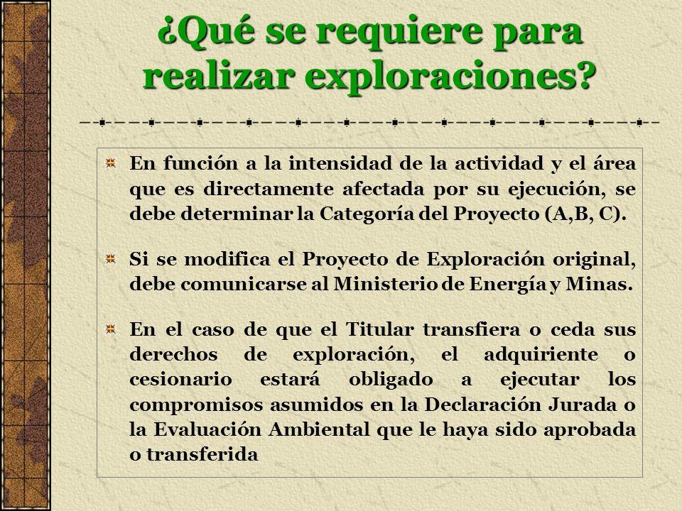 ¿Qué se requiere para realizar exploraciones