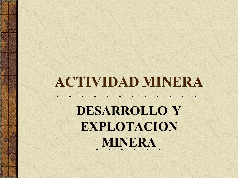 DESARROLLO Y EXPLOTACION MINERA