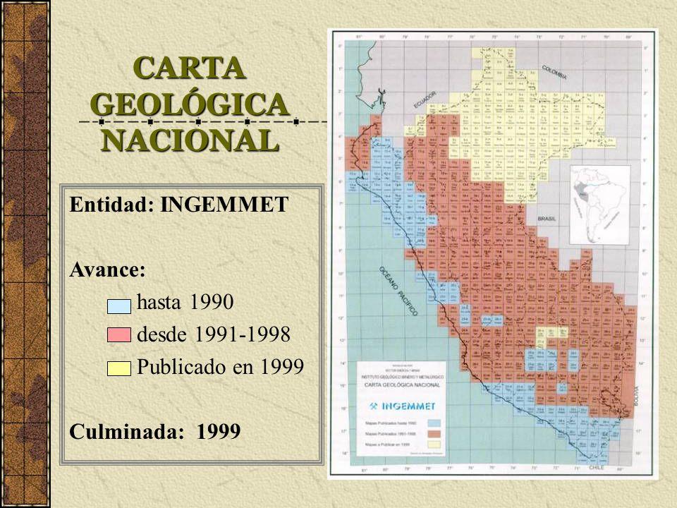 CARTA GEOLÓGICA NACIONAL