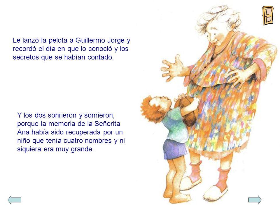 Le lanzó la pelota a Guillermo Jorge y recordó el día en que lo conoció y los secretos que se habían contado.