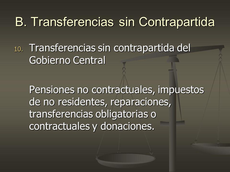 B. Transferencias sin Contrapartida