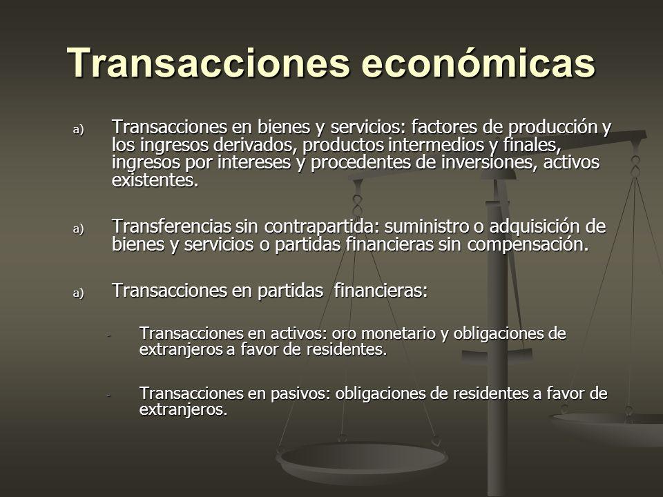 Transacciones económicas