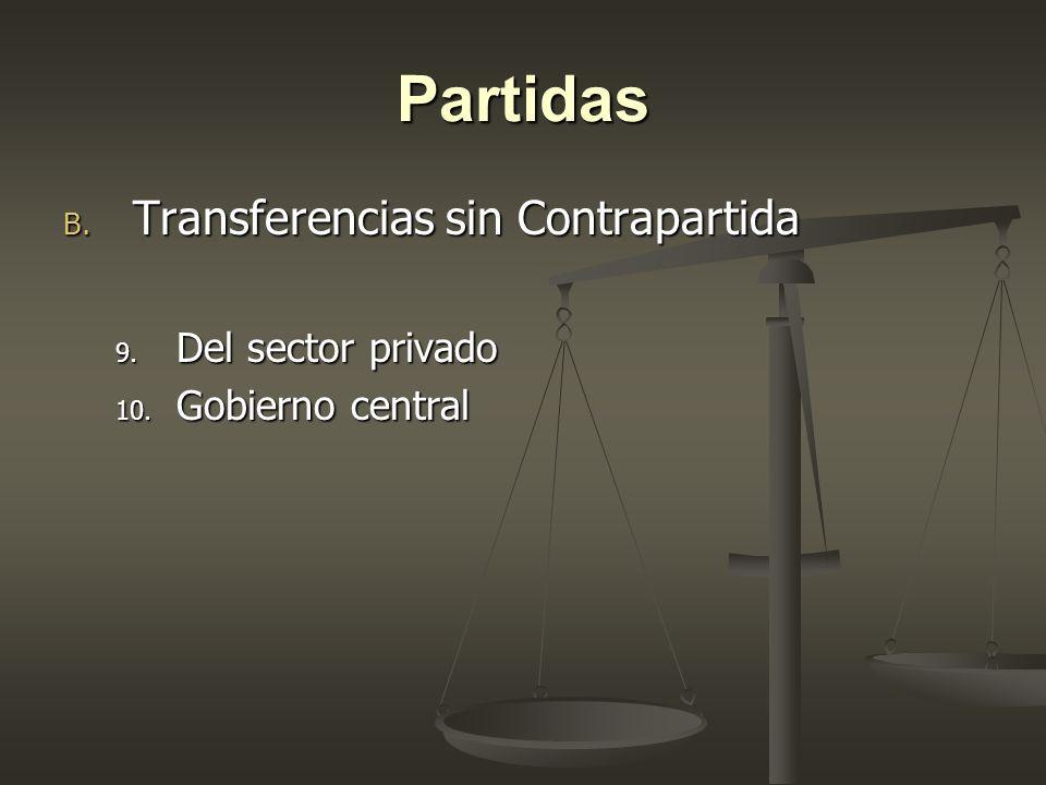 Partidas Transferencias sin Contrapartida Del sector privado