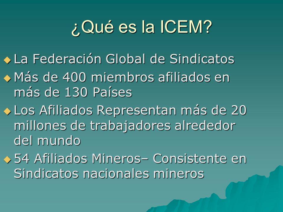 ¿Qué es la ICEM La Federación Global de Sindicatos