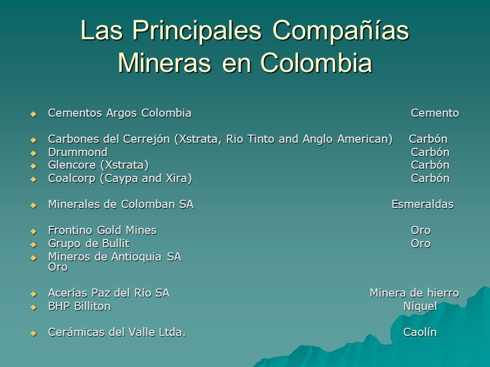 Las Principales Compañías Mineras en Colombia