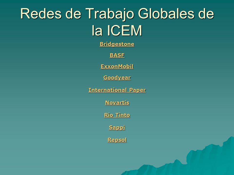 Redes de Trabajo Globales de la ICEM