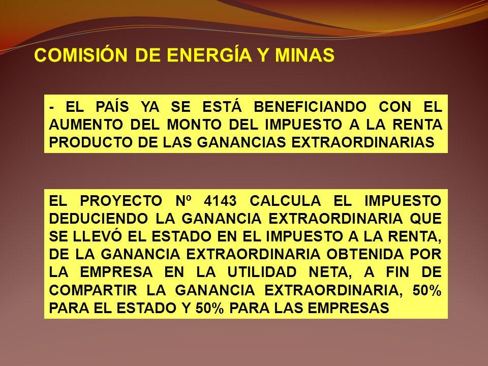 COMISIÓN DE ENERGÍA Y MINAS