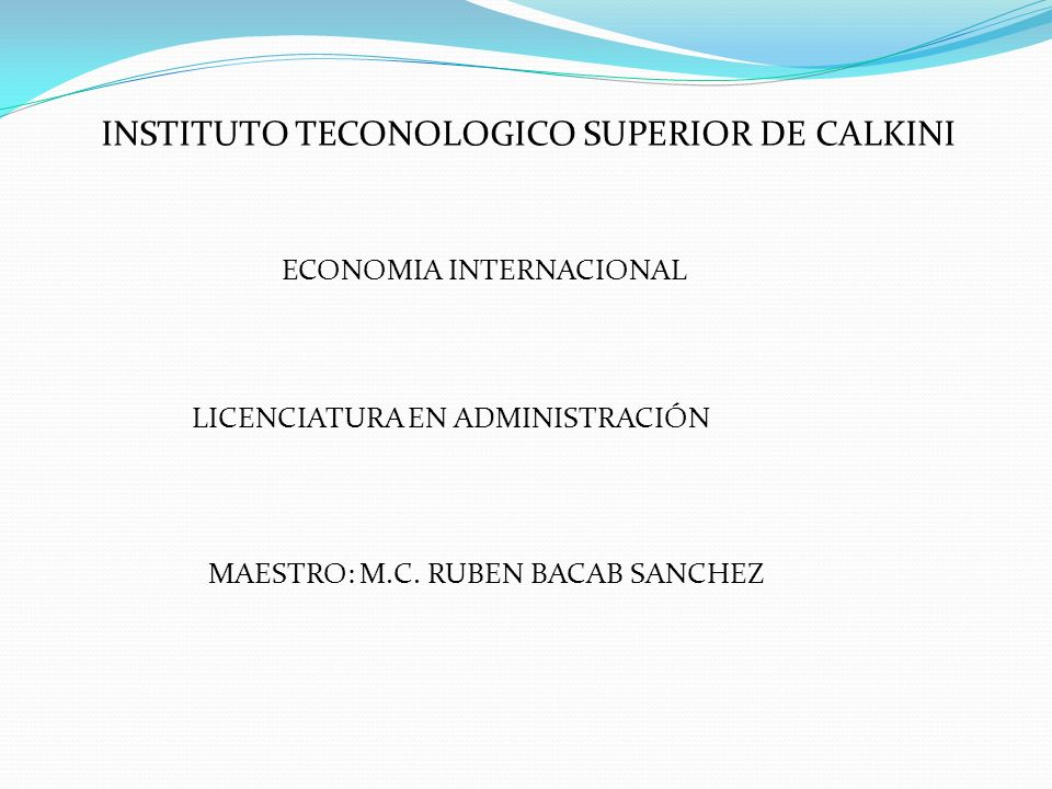 INSTITUTO TECONOLOGICO SUPERIOR DE CALKINI