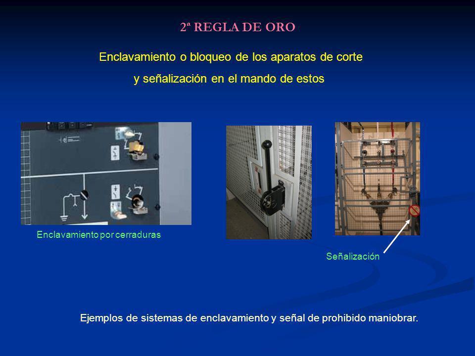 2ª REGLA DE ORO Enclavamiento o bloqueo de los aparatos de corte