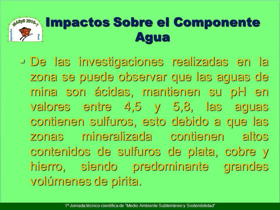 Impactos Sobre el Componente Agua