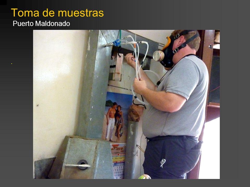 Toma de muestras Puerto Maldonado