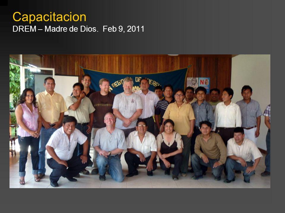 Capacitacion DREM – Madre de Dios. Feb 9, 2011