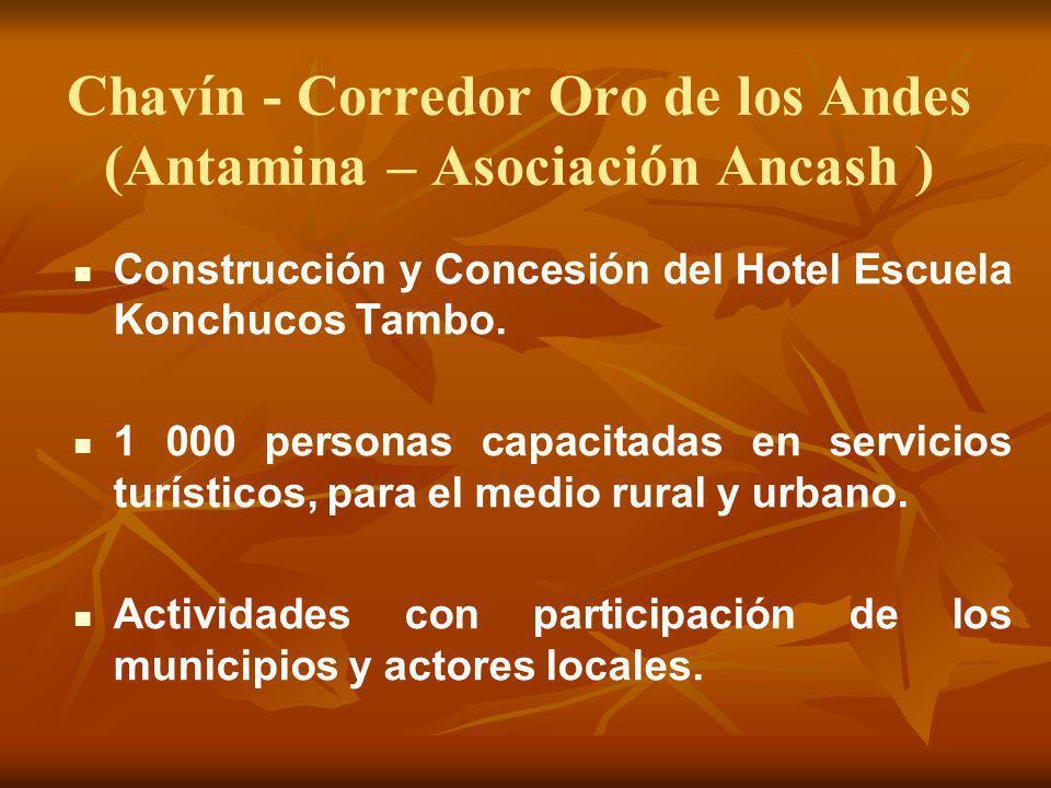 Chavín - Corredor Oro de los Andes (Antamina – Asociación Ancash )