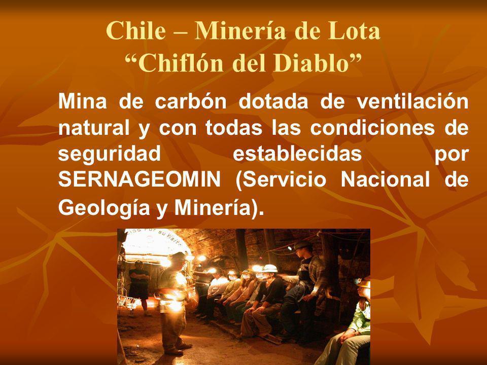 Chile – Minería de Lota Chiflón del Diablo
