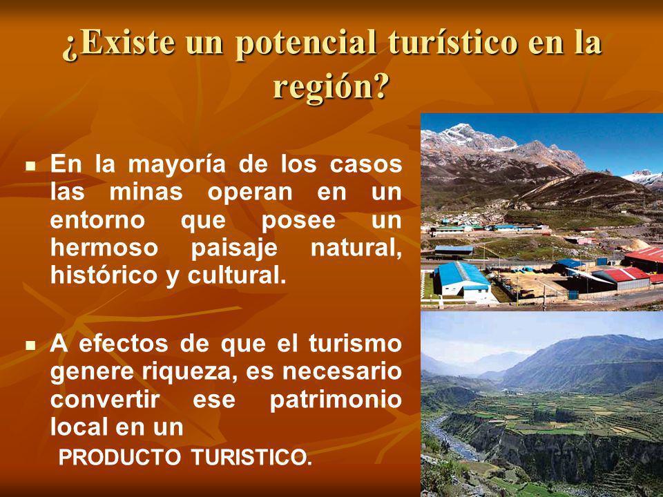 ¿Existe un potencial turístico en la región