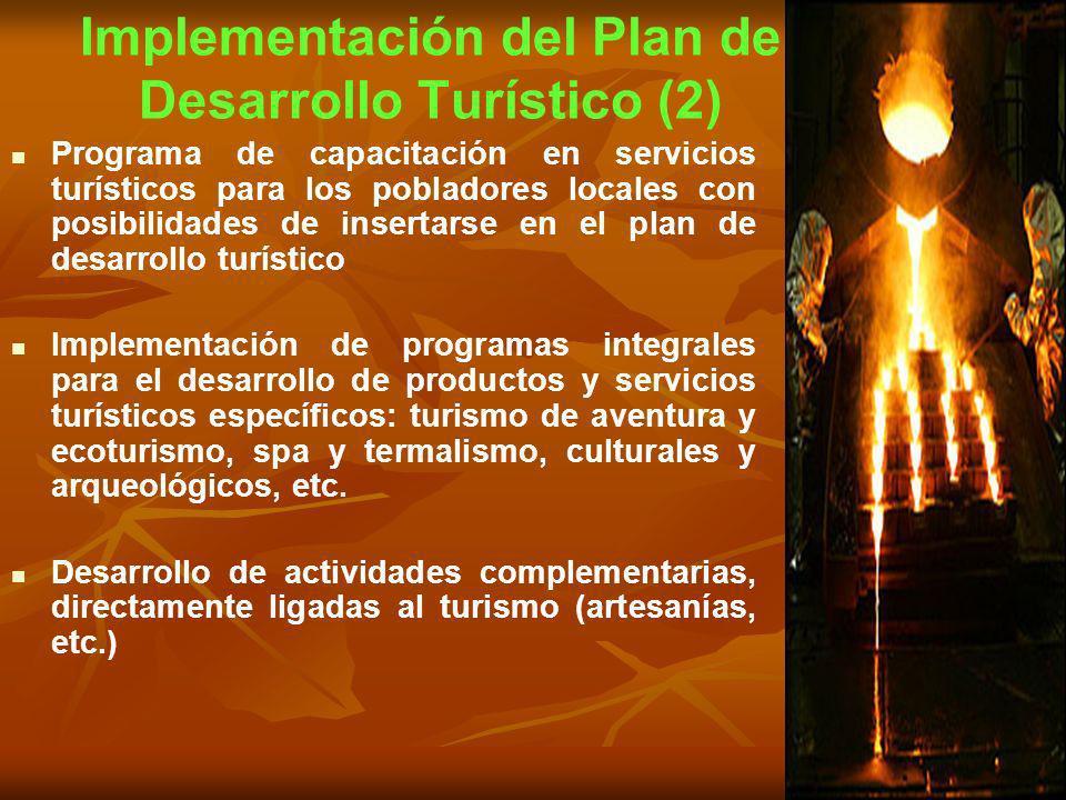 Implementación del Plan de Desarrollo Turístico (2)