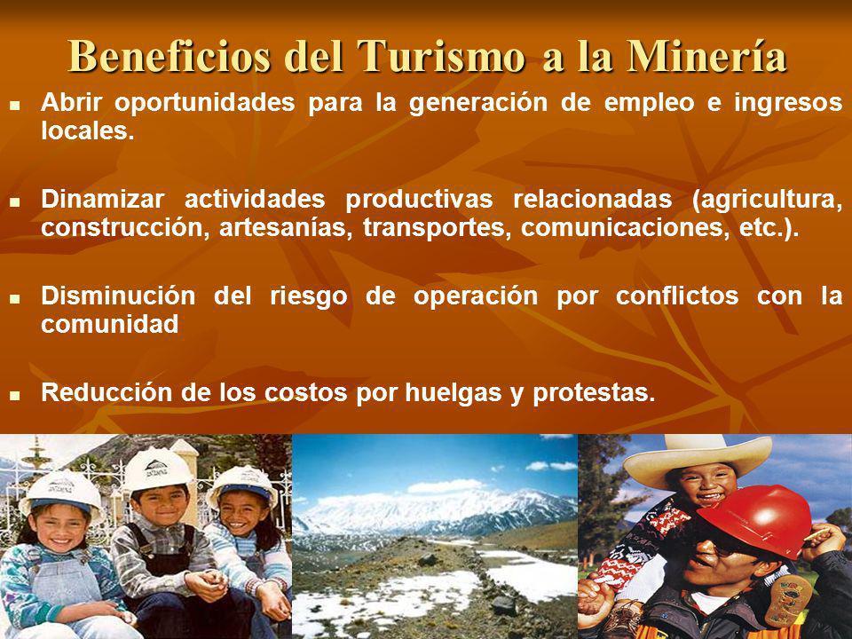 Beneficios del Turismo a la Minería
