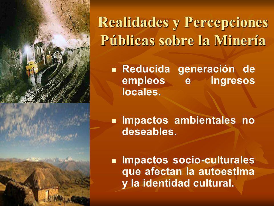 Realidades y Percepciones Públicas sobre la Minería