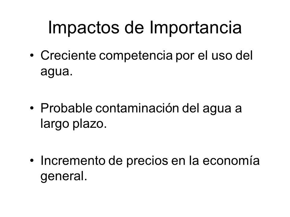 Impactos de Importancia