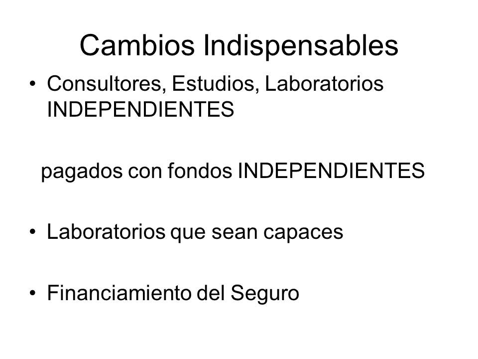 Cambios Indispensables