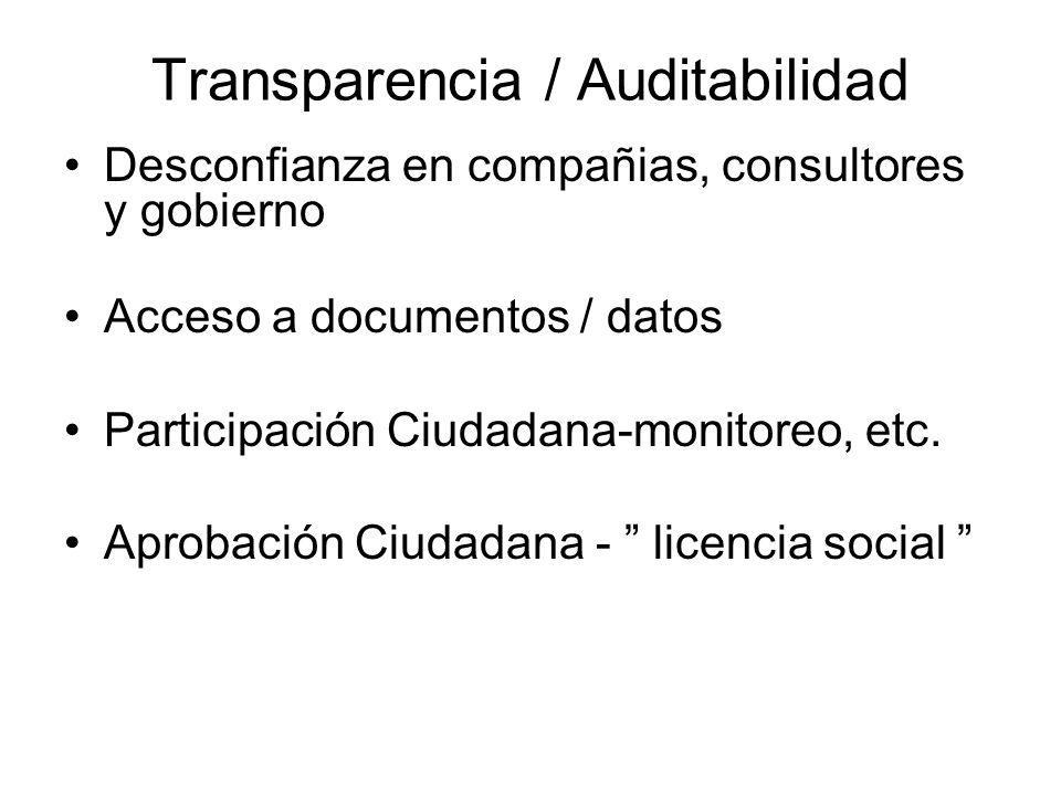 Transparencia / Auditabilidad